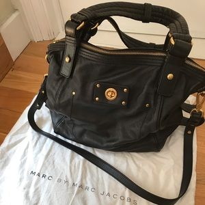 Marc by Marc Jacobs totally turnlock black satchel